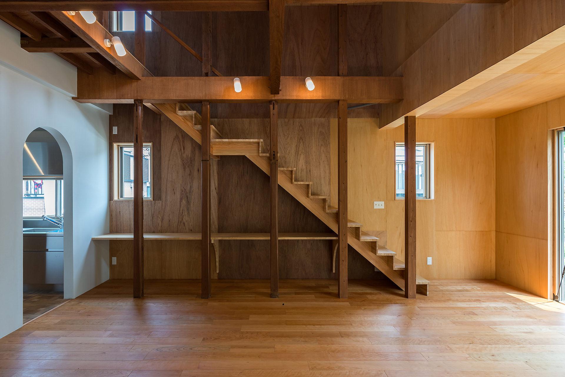小屋と吹き抜けのある家 イメージ02 撮影:東涌宏和