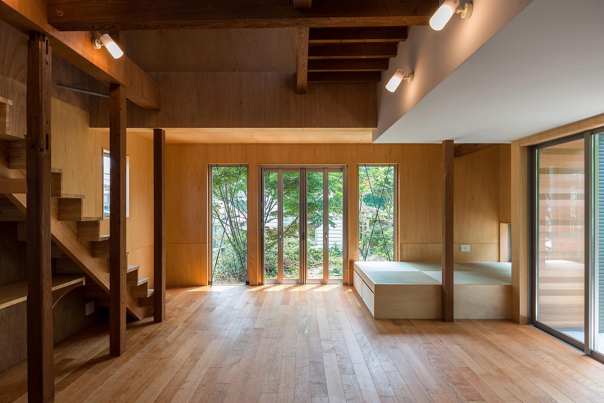 小屋と吹き抜けのある家 イメージ01 撮影:東涌宏和